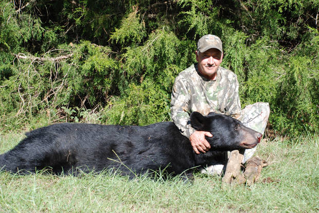 This black bear weighed more than 340 pounds and was killed on opening day by Byg Guinn of Hodgen on private land.