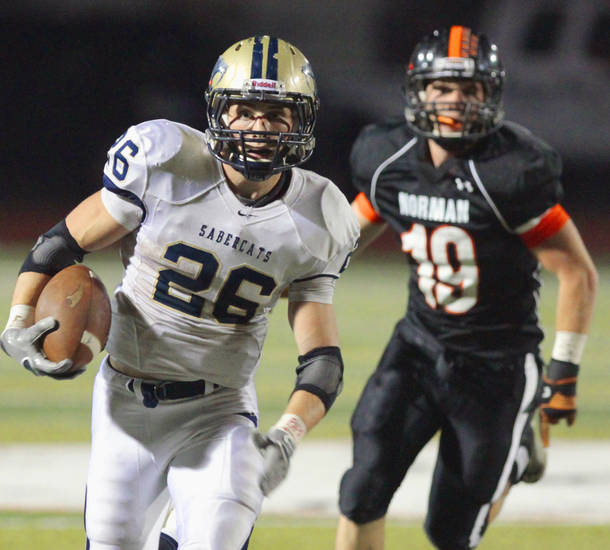 Southmoore's Andrew Long verbally committed to play football at Air Force on Wednesday.