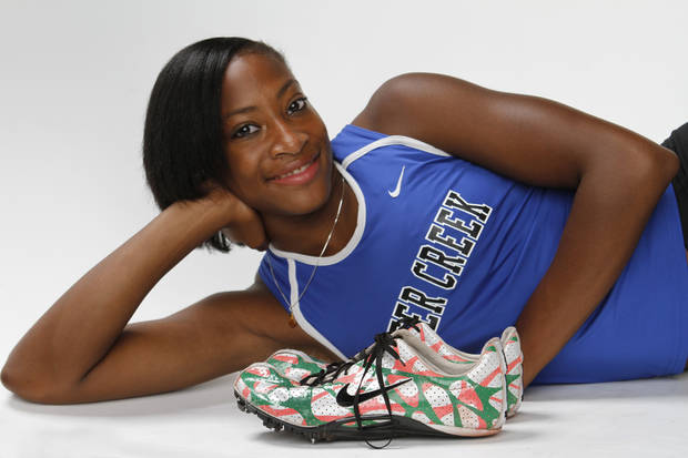 GIRLS HIGH SCHOOL TRACK: All-City girls track Kirsten Burnett in Oklahoma City, Thursday, May  31  2012. Photo By Steve Gooch,  The Oklahoman