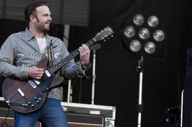 Caleb Followill from the band Kings of Leon performs at the 3rd annual Governors Ball Music Festival on Saturday, June 8, 2013 in New York. (AP)