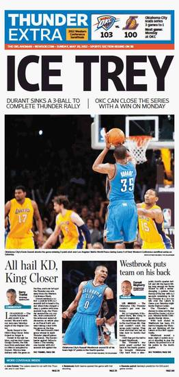 Game 4: Thunder-Lakers, May 20, 2012