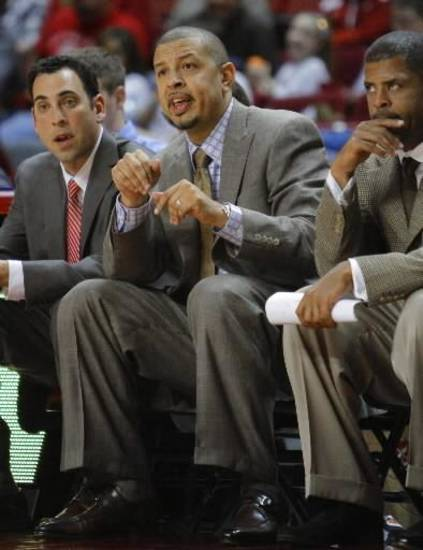Head coach Jeff Capel reacts in the second half as the University of Oklahoma (OU) Sooner men&#039;s basketball team plays the Coppin State Eagles on Friday, November 12, 2010, at the Lloyd Noble Center in Norman, Okla. Photo by Steve Sisney, The Oklahoman