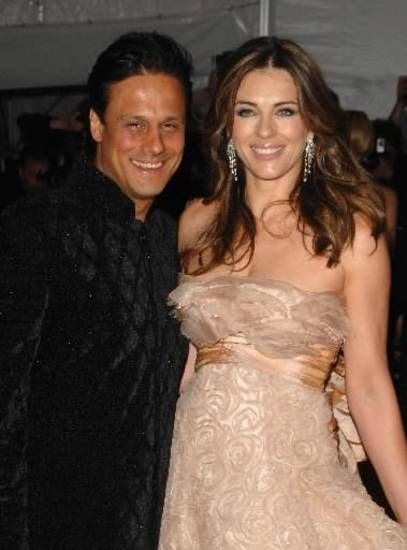 Elizabeth Hurley recently announced that she has separated from husband Arun Nayar. (AP Photo/Peter Kramer)