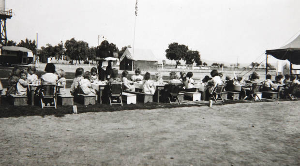 Photo of the camp that  Beatrice Warren worked in when she was a nurse at a migrant camp in California during the dust bowl era. Photo Provided <strong>David McDaniel - The Oklahoman</strong>