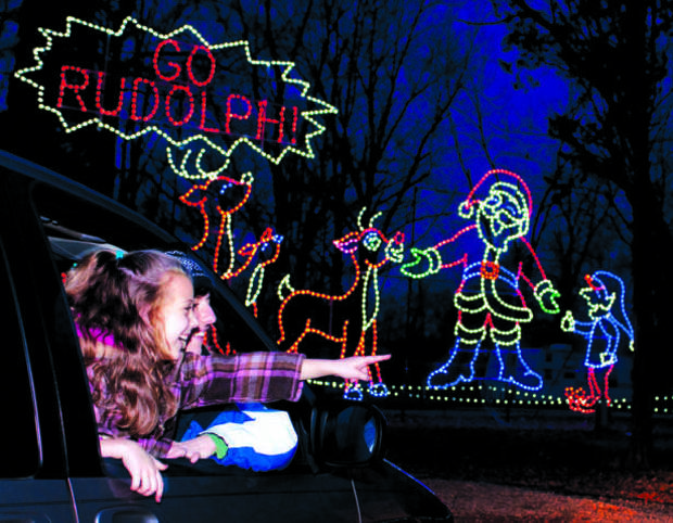 Santa Claus Land of Lights is a big family attraction. PHOTO PROVIDED BY LAKE RUDOLPH CAMPGROUND AND RV RESORT.
