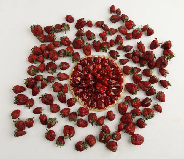 This strawberry tart is teeming with local berries. <strong>DOUG HOKE - THE OKLAHOMAN</strong>