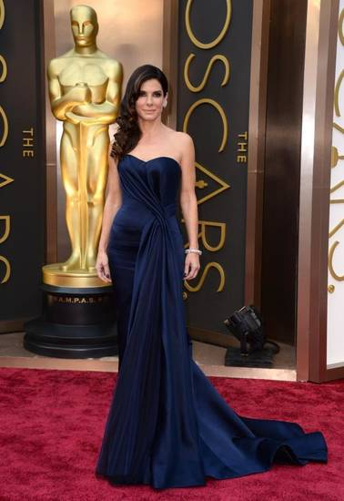"Sandra Bullock is vying for her second best actress Oscar for ""Gravity."" (AP)"