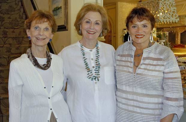 Beth Tolbert, Suzanne Cunningham, Kitty Champlin were at the Chance to Change party honoring Jo Ann Peace, retiring executive director. (Photo by Chris Landsberger).