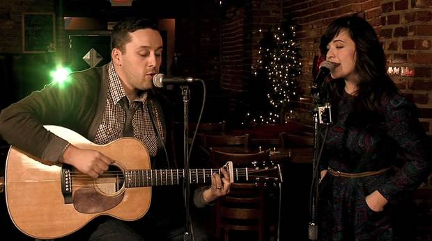 "Denver Duncan & Erin Austin performing ""Baby It's Cold"" for 2011 Static X-Mas"