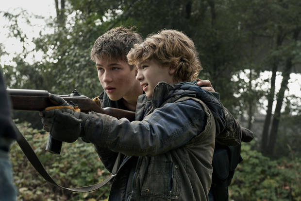 "Connor Jessup and Maxim Knight in ""Falling Skies"" - TNT Photo"