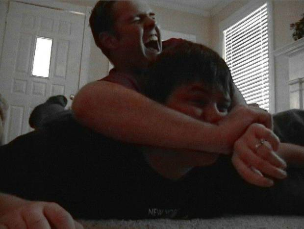 Cooter (Bill Bryan) and Boyd (Kyle Goff) practicing wrestling in a Episode 2 of LDCB.<br/><b>Community Photo By:</b> B. J. Hartsburg<br/><b>Submitted By:</b> K, Midwest City