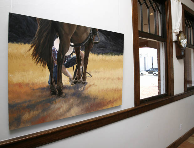 Art by artist Rick Fry is on display at the Performing Arts Studio gallery at the Norman Depot in Norman, Okla. on Friday, Feb. 6, 2009.   Photo by Steve Sisney, The Oklahoman