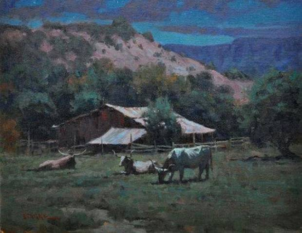 �Night Solitude� by Tucson painter Phil Starke. IMAGE PROVIDED