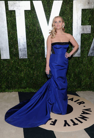 Reese Witherspoon in a Louis Vuitton dress and jewelry at the 2013 Vanity Fair Oscars Viewing and After Party, Sunday, Feb. 24 2013 at the Sunset Plaza Hotel in West Hollywood, Calif. (Photo by Evan Agostini/Invision/AP) <strong>Evan Agostini</strong>
