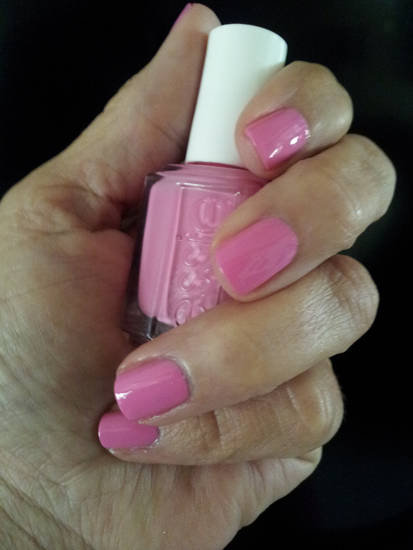 Lovie Dovie by Essie. A bold but pretty pink polish.