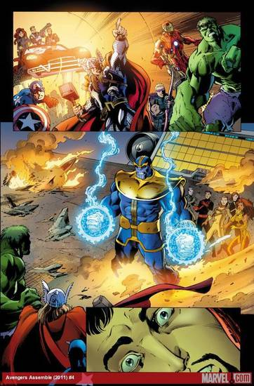 Thanos in &quot;Avengers Assemble&quot; No. 4.  Marvel Comics. &lt;strong&gt;&lt;/strong&gt;