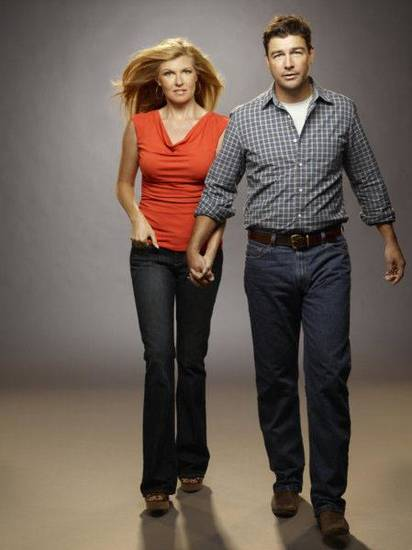 FRIDAY NIGHT LIGHTS -- Pictured: (l-r) Connie Britton as Tami Taylor, Kyle Chandler as Eric Taylor -- NBC Photo: Justin Stephens