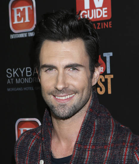 Adam Levine attends TV Guide Magazine's 2012 Hot List Party at Skybar at the Mondrian Hotel on Monday, Nov. 12, 2012 in West Hollywood, Calif. (Photo by Todd Williamson/Invision/AP Images)