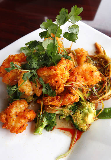 Szechuan Jumbo Shrimp at the Szechuan Bistro, 1010 W Memorial Road, in Oklahoma City. <strong>PAUL B. SOUTHERLAND - THE OKLAHOMAN</strong>