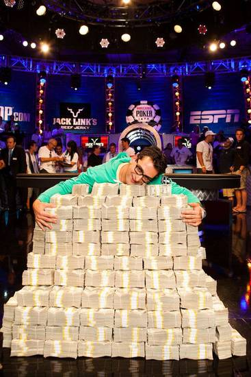 "Poker pro Antonio ?The Magician? Esfandiari wins ""The Big One for One Drop"" tournament sponsored by the World Series of Poker. Photo courtesy of Poker News/WSOP. <strong>Neil Stoddart</strong>"