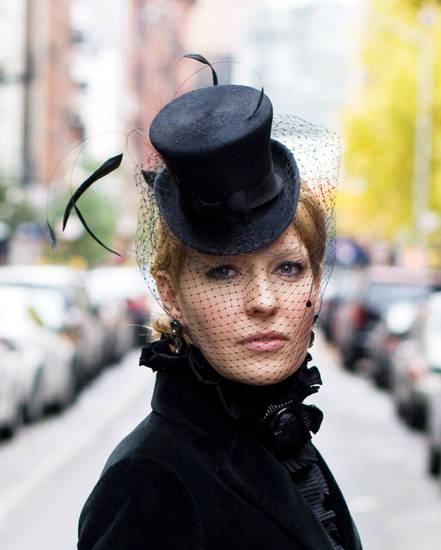 Marla Cook, a milliner seen here, and milliner Lydia Sullivan-Benham will present a hat trimming workshop from 1 to 4 p.m. Feb. 23 at JRB Art at the Elms, 2810 N Walker. Photo provided. <strong></strong>