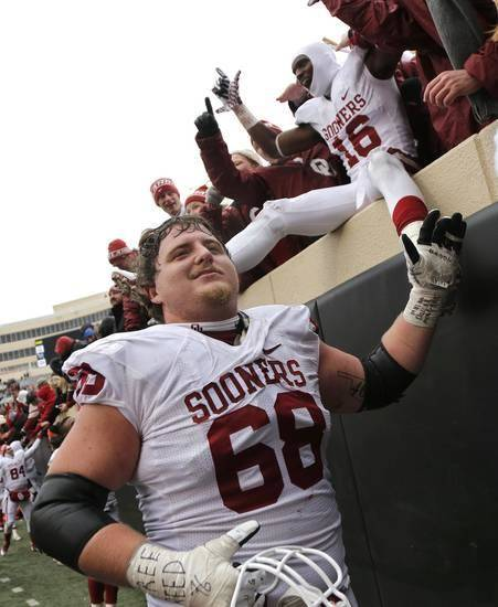 Former OU offensive lineman Bronson Irwin became one of the unit's most valuable members during his senior season. PHOTO BY CHRIS LANDSBERGER, THE OKLAHOMAN