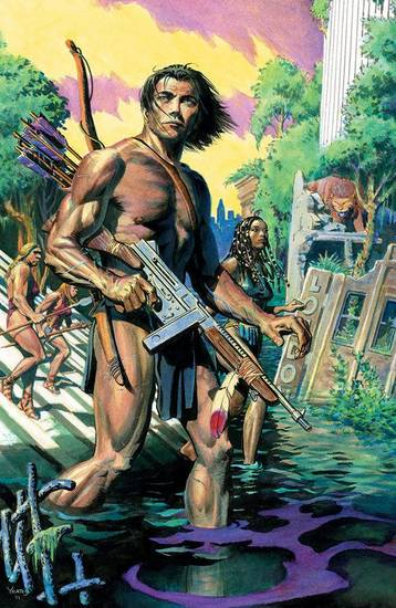 &quot;The Once and Future Tarzan&quot; one-shot.  Dark Horse Comics