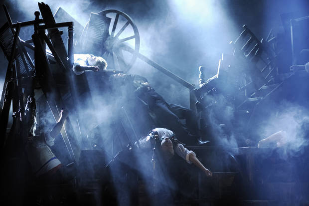 The barricade scene from &quot;Les Miserables&quot;
