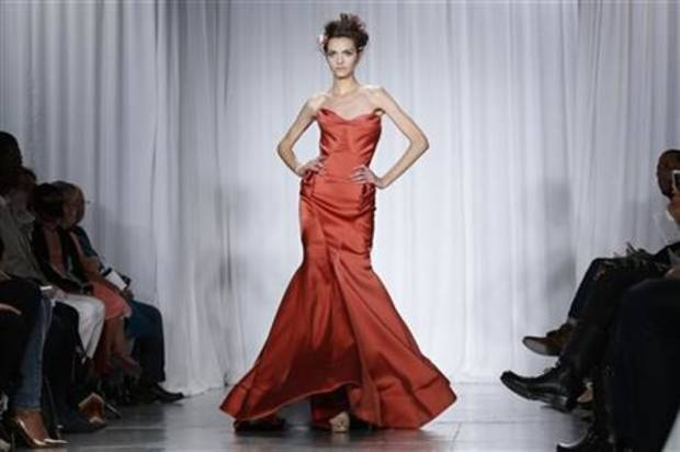 Zac Posen spring 2014 collection shown on the runway in New York. AP PHOTO