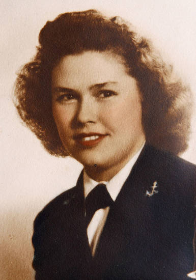 WWII photo of Navy WAVE veteran Barbara Maroney, of Oklahoma City, OK, Friday, November 9, 2012,  By Paul Hellstern, The Oklahoman