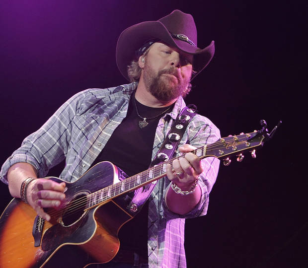 Singer Toby Keith performs at Stagecoach country music festival in Indio, Calif. on Sunday, April 25, 2010. (AP Photo/Dan Steinberg) ORG XMIT: CADS137