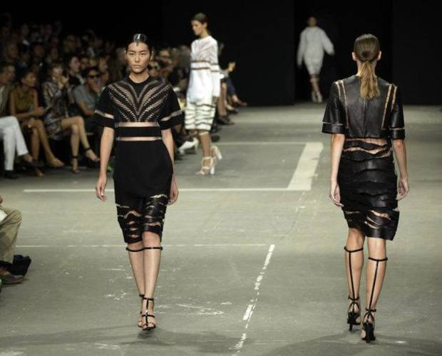 Alexander Wang for spring 2013 during New York Fashion Week. AP PHOTO