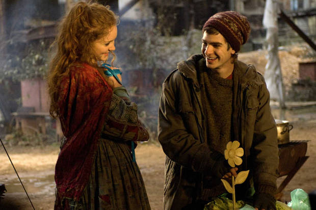 Lily Cole and Andrew Garfield in The Imaginarium of Doctor Parnassus.