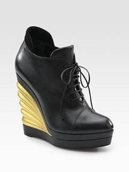 Yves Saint Laurent leather wedge, $1,095.