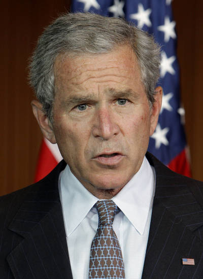 Former President George W. Bush is shown in this photo from 2007. <strong>AP PHOTO</strong>