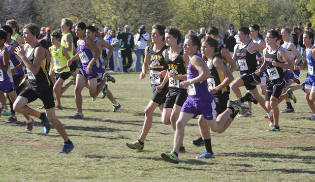 The Boys 4A State Cross Country Finals begins at Edmond Santa Fe High School in Edmond, OK, Saturday, October 27, 2012,  By Paul Hellstern, The Oklahoman