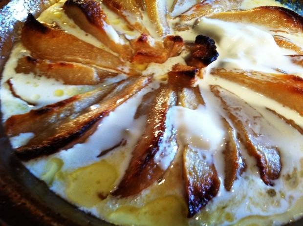 Pears Roasted with Caramelized Cream