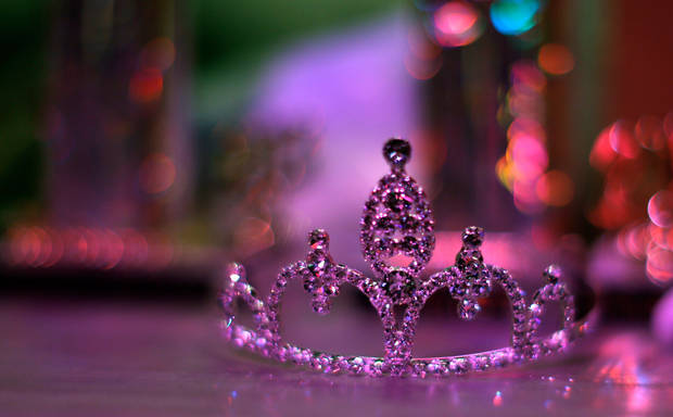 A tiara sits backstage for the winner of the Ms. Oklahoma Senior America Pageant