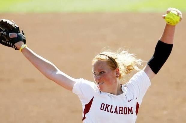 Oklahoma pitcher Michelle Gascoigne was named an Academic All-American on Thursday. Photo by John Clanton, The Oklahoman Archives