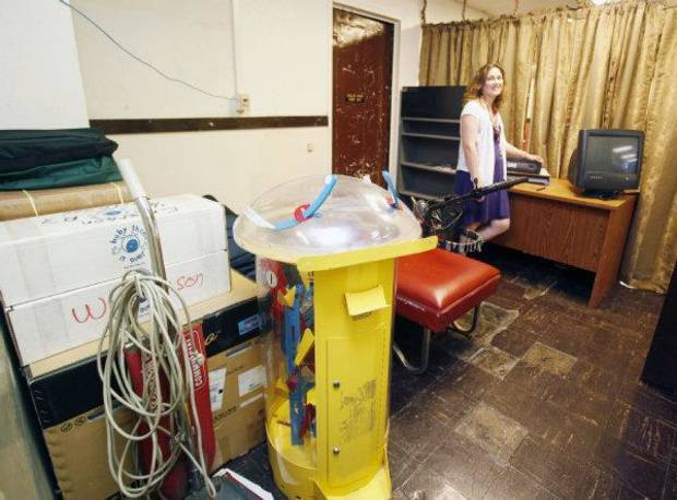 Randa Pirrong shows the nurse's station next to her classroom at Emerson High School in Oklahoma City, OK, Tuesday, May 24, 2011. By Paul Hellstern, The Oklahoman ORG XMIT: KOD