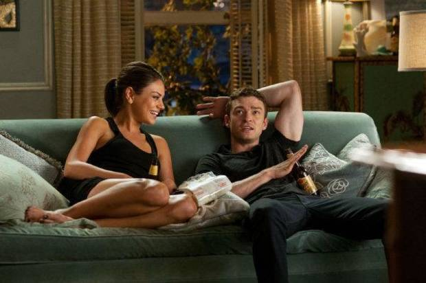 "Mila Kunis and Justin Timberlake star in ""Friends with Benefits."" Screen Gems photo <strong>David Giesbrecht</strong>"