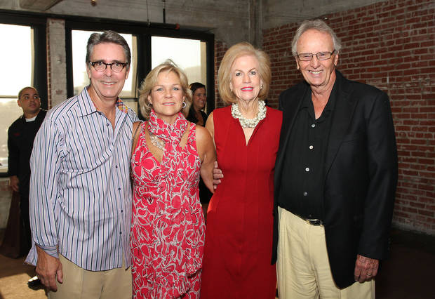 Tim and Marylee Strange and Janie and Bill Comstock celebrate Oklahoma City Beautiful's 40th Anniversary.