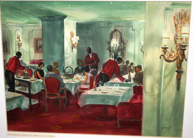 This painting of The Cellar Restaurant was made for a magazine article in the 1960s.