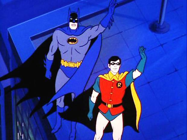 "Batman and Robin from ""SuperFriends."" Larry Latham worked on the series.WARNER BROS. PHOTO"