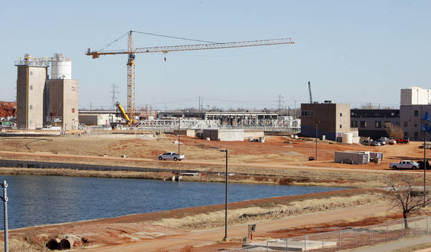 The Oklahoma City water treatment plant is north of the Lake Hefner dam in Oklahoma City. Photo by Paul B. Southerland, The Oklahoman Archive