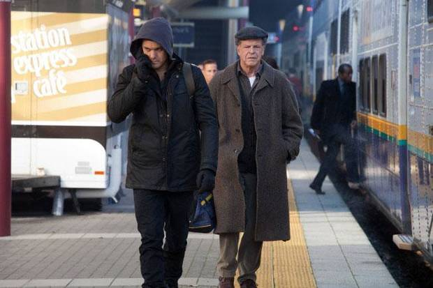 "Peter (Joshua Jackson,) and Walter (John Noble) track the loyalists in the monorail station in the ""The Boy Must Live"" episode of ""Fringe."" - Fox Photo"