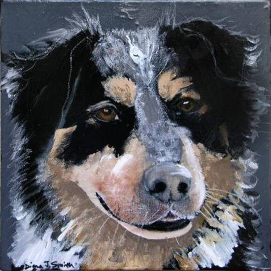 """Kodiak"" by Diana J. Smith. Acrylic on canvas. Provided."