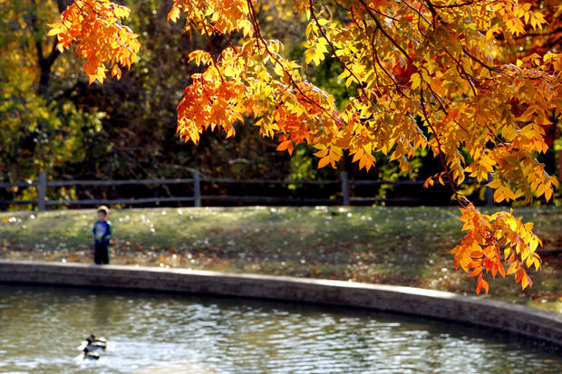A child plays at Hafer Park in Edmond, Okla., Thursday, Nov. 10, 2011. Photo by Bryan Terry, The Oklahoman
