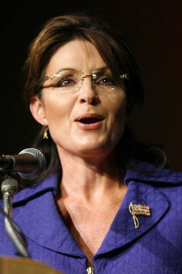 Former Alaska Governor Sarah Palin speaks at the Oklahoma Council of Public Affairs annual Liberty Gala at the Convention Center in Tulsa, Okla. Wednesday Sept. 15, 2010. (AP Photo/The Tulsa World, Matt Barnard)