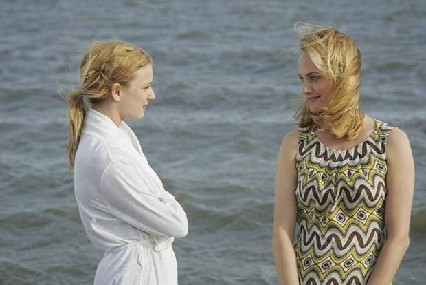 "Emily Van Camp with Amber Valletta, right, in the new series ""Revenge,"" which airs Wednesdays on ABC."